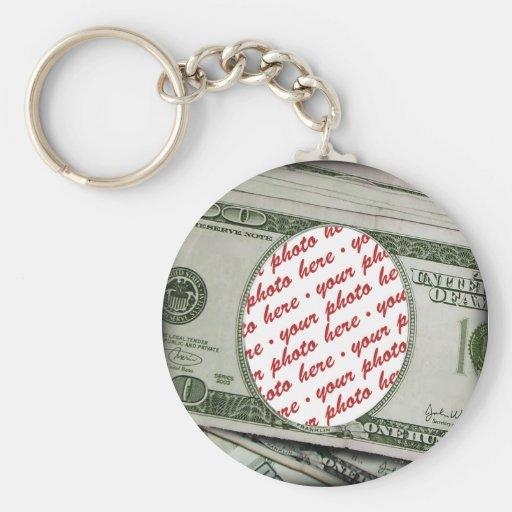 Votre visage sur les $100 Bill ! Ajouter-UN-Photo Porte-clé Rond