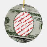 Votre visage sur les $100 Bill ! Carte photo Ornements