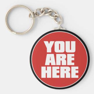 Vous êtes ici porte - clé porte-clé rond