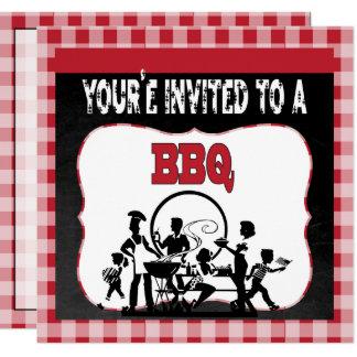 Vous êtes invités à une invitation de barbecue de