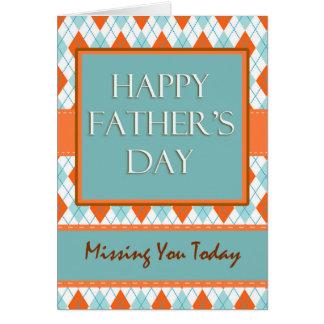 Vous manquer la fête des pères, conception à carte de vœux