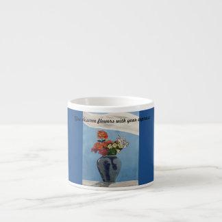 Vous méritez des fleurs avec votre café express tasse expresso