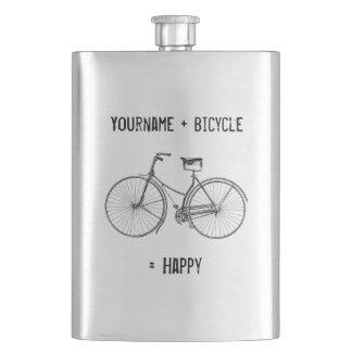 Vous plus la bicyclette égale le vélo heureux de fioles