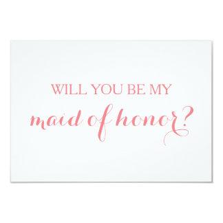 Vous serez ma domestique de partie nuptiale de carton d'invitation 8,89 cm x 12,70 cm