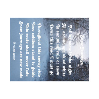 Voyage de neige de poème d'impression de toile par impressions sur toile