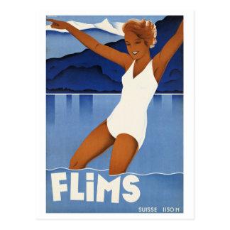 Voyage vintage de Flims Suisse Carte Postale