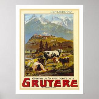 Voyage vintage de gruyère posters