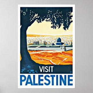 Voyage vintage de la Palestine de visite Poster
