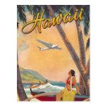Voyage vintage d'Hawaï Cartes Postales