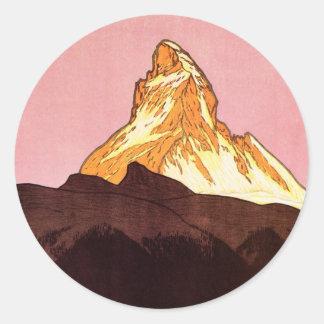 Voyage vintage montagne de Matterhorn Suisse Adhésif