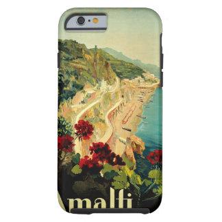 Voyage vintage, plage italienne de côte d'Amalfi Coque iPhone 6 Tough