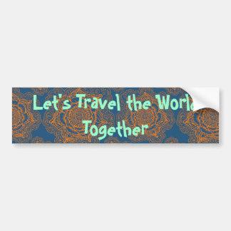 Voyageons ensemble le monde autocollant de voiture