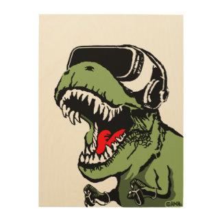 VR T-rex Holzwanddeko
