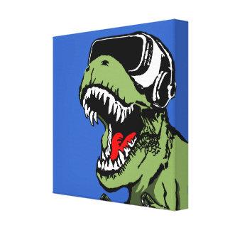 VR T-rex Leinwanddruck