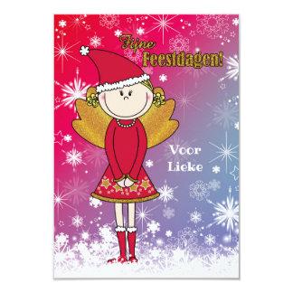 Vrolijke naam - kerstkaart met een kerst engeltje karte