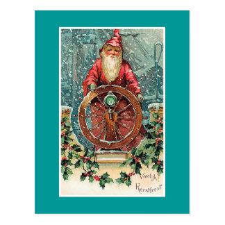 Vroolijk Kerstfeest Vintage niederländische Postkarte