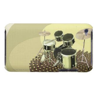 Vue courbe d'un kit de tambour coque barely there iPod
