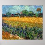 Vue de Van Gogh d'Arles avec l'affiche d'iris