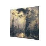 Vue du port, ou les moulins à vent dedans impression sur toile