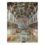 Vue intérieure de la chapelle de Sistine Cartes Postales