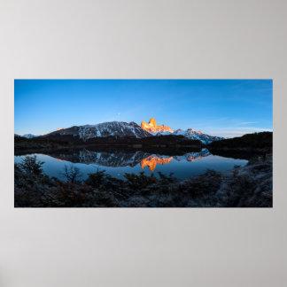 Vue panoramique de lac Capri, Patagonia Poster