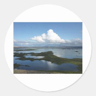 Vulkane auf Island Runder Aufkleber