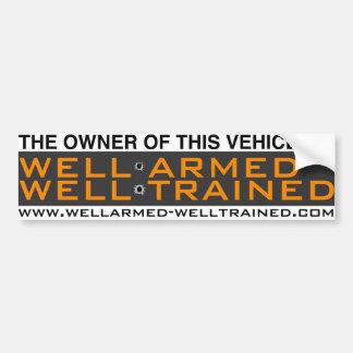 W.A.W.T. Pare-chocs Sticker1 - Bien entraîné armé Autocollant De Voiture