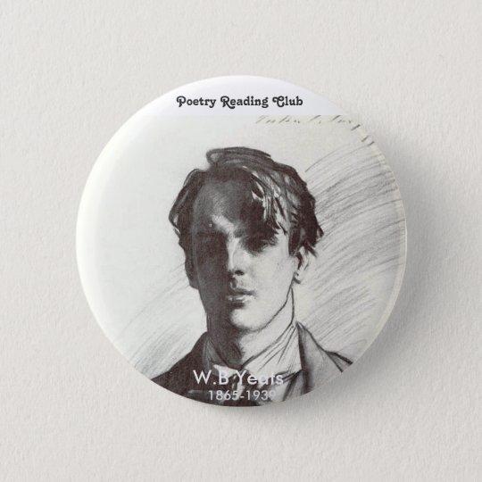 W.B. Yeats Runder Button 5,1 Cm