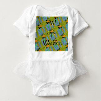 W ist für Wetter-Ballettröckchen-Bodysuit Baby Strampler