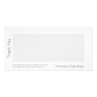 W-Schablonen-Beileid danken Ihnen addieren Photogrußkarten
