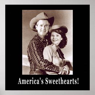 W und Schatze Laura Amerika Poster