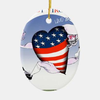 w Virginia laute und stolz, tony fernandes Keramik Ornament