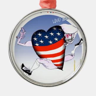 w Virginia laute und stolz, tony fernandes Silbernes Ornament