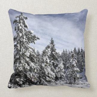 Wacholderbüsche im Schnee Kissen