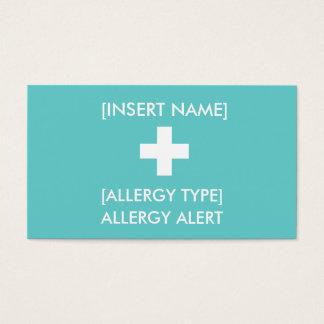 Wachsame ID/ICE Karte der Allergie-