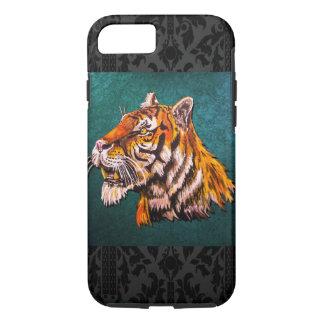 Wachsamer Tiger aquamarin iPhone 7 Hülle