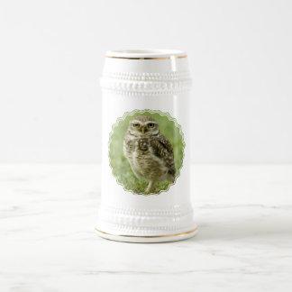 Wachsames Eulen-Bier Stein Teehaferl