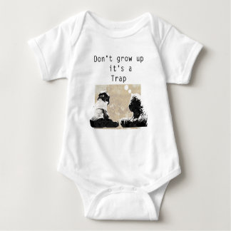 Wachsen Sie es nicht ist eine Falle auf Baby Strampler