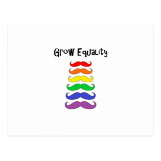 Wachsen Sie Gleichheit Postkarte