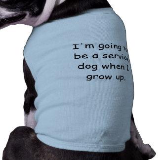Wachsen Sie Service-Hundehaustier-Shirt auf Ärmelfreies Hunde-Shirt