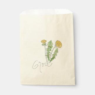 Wachsen Sie wie eine Unkraut-Samen-Tasche Geschenktütchen