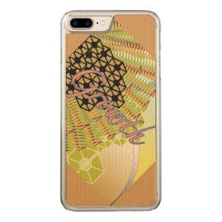 Wachstum iPhone 6/6s plus dünnes Ahorn-Holz Carved iPhone 8 Plus/7 Plus Hülle