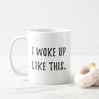 Wachte so auf kaffeetasse