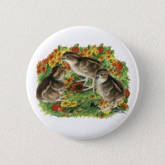 Wachtel-Garten-Küken Runder Button 5,7 Cm