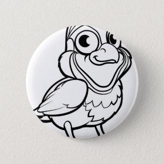 Wachtel-Vogel-Cartoon-Charakter Runder Button 5,1 Cm