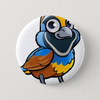 Wachtel-Vogel-Cartoon-Charakter Runder Button 5,7 Cm