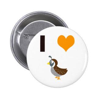 Wachteln des Herzens I Runder Button 5,7 Cm