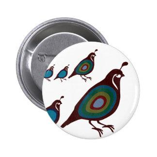 Wachteln Runder Button 5,1 Cm