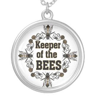 Wächter der Bienen Versilberte Kette