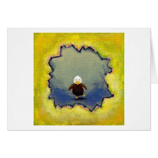 Wackeliges Baby der Weißkopfseeadlerkunst, das Karte